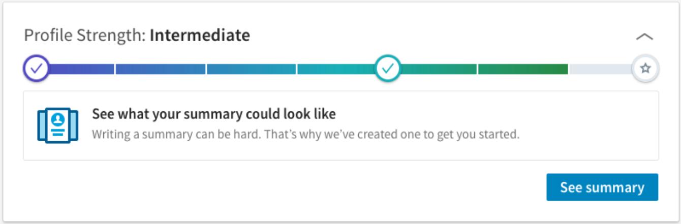 Système de gamification du profil utilisateur de LinkedIn - LinkedIn