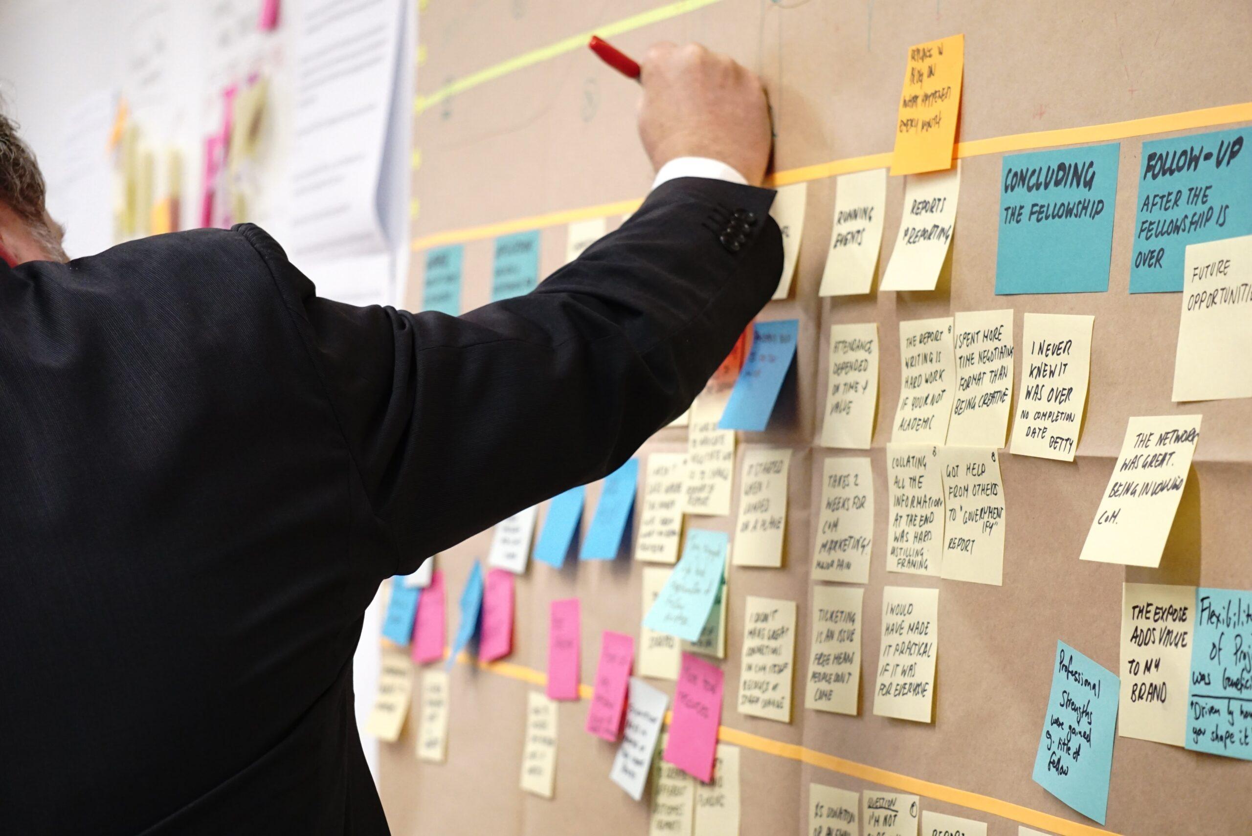 Exemple de board en atelier design thinking